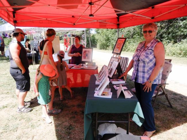 Local writers Christine Delorme and Liliane Gratton