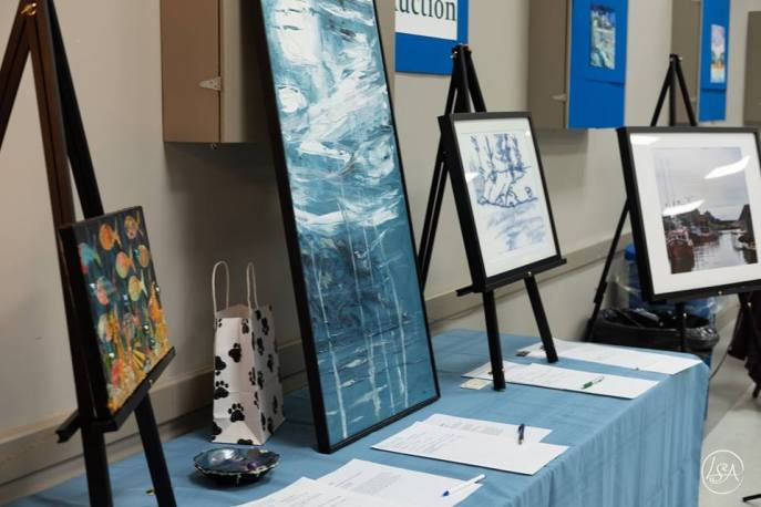 Artwork donated for the silent auction