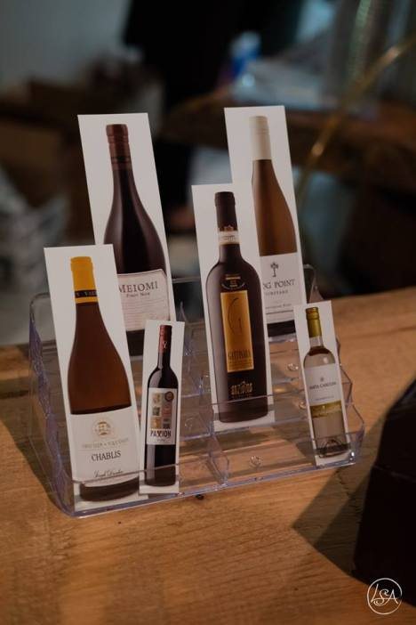 The wine pull offered a chance at specialty wines